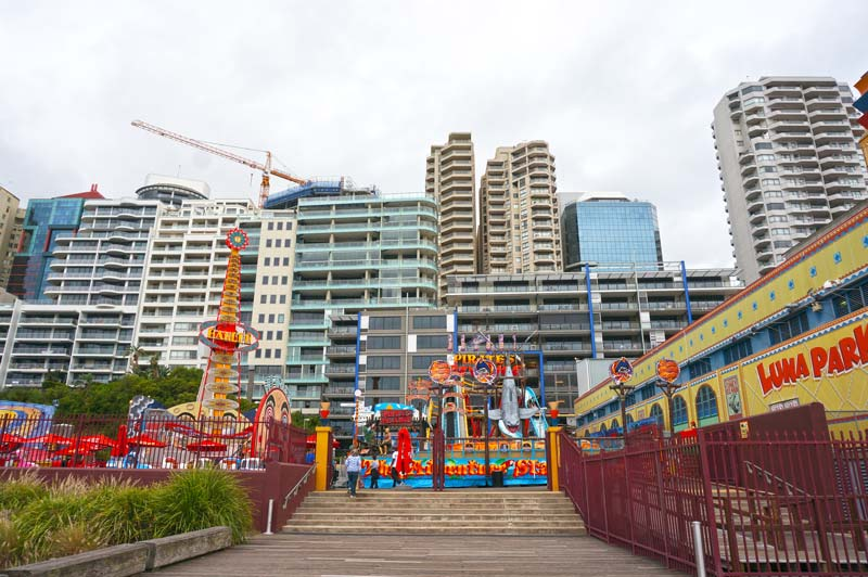 Sydney apartments bearing down on Luna Park Sydney