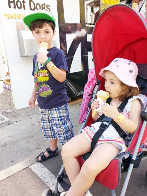 Strollers and ice-cream is a good ideas at The Show