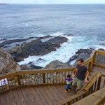 The boardwalk along the jagged rocks, Admirals Arch
