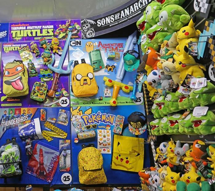 Pokemon Showbag same as last year but perhaps more popular. Ekka with kids. Ekka 2016.