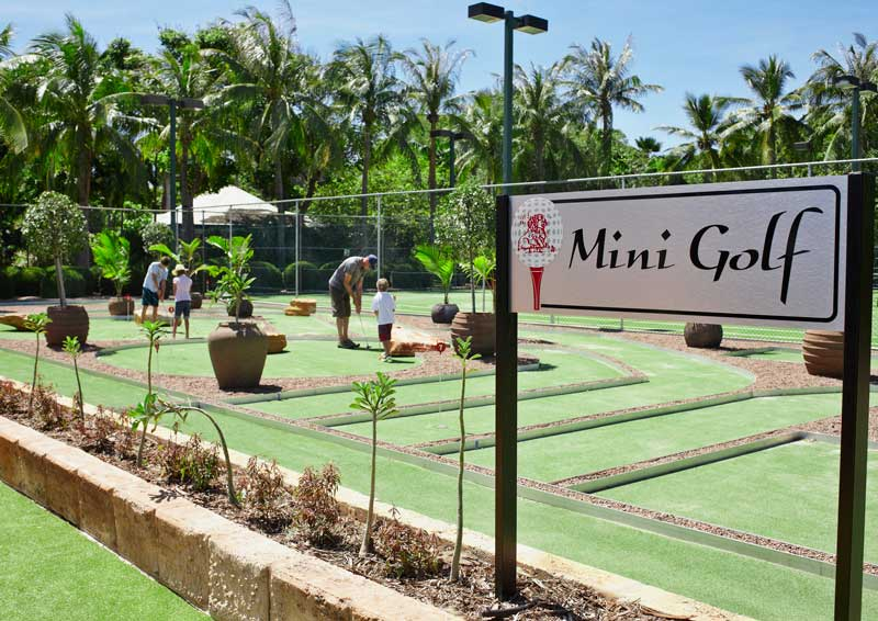 Mini golf at the resort. Image: Cable Beach Club Resort & Spa