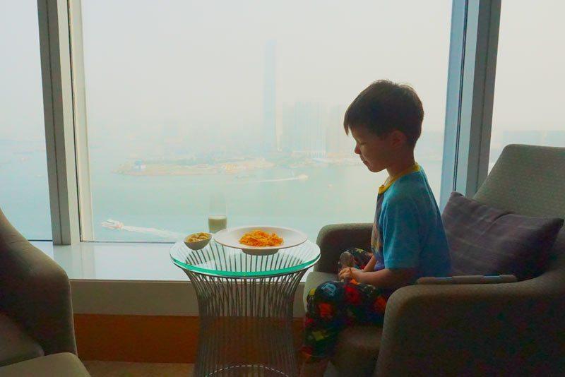 Room service cornflakes comes at a cost. Four Seasons Hotel Hong Kong.