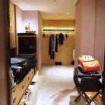 Premier hotel room had a oversized walk in closet