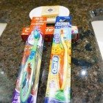 Kids toothbrush and toothpaste.