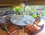 Elegant undercover dining. Il Gardino Bali.