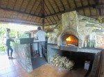 Woodfired pizza oven. Il Gardino Ubud, Bali.