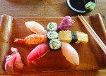 Fresh sushi at Ryoshi