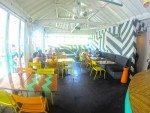 Vibrant restaurant with comfortable seating. Sea Circus Bali.
