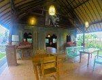 Indoor open air dining. Bali Warung Mina entrance