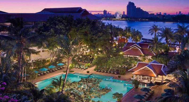 The luxe Anantara Riverside Bangkok, right on the Chao Phraya River. Image: Minor Hotels