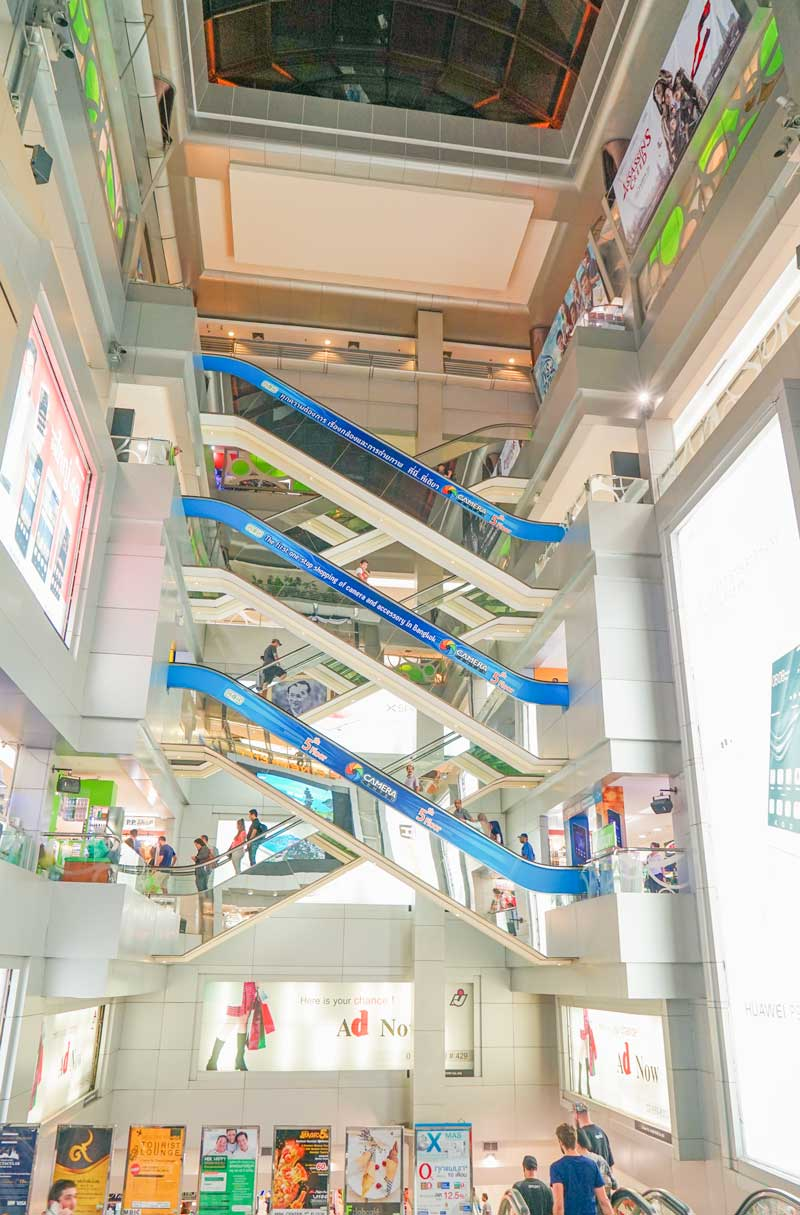 Bangkok with kids. MBK Shopping Center. Floors of fake and boutique levels.