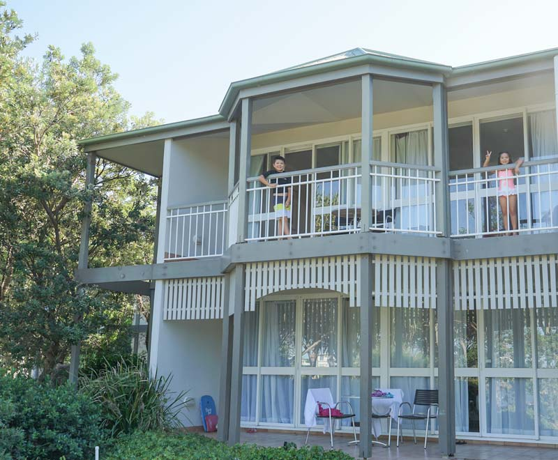 Sunshine Coast Best Family Accommodation - one bedroom suite at Novotel Twin Waters Resort.